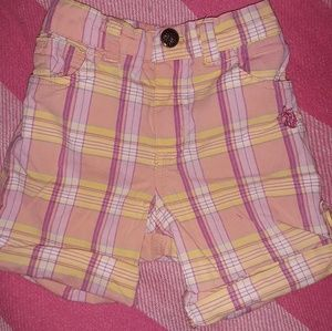 3T Polo girls plaid shorts